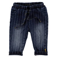 B.E.S.S baby gestreepte regular fit jeans stonewashed, Stonewashed