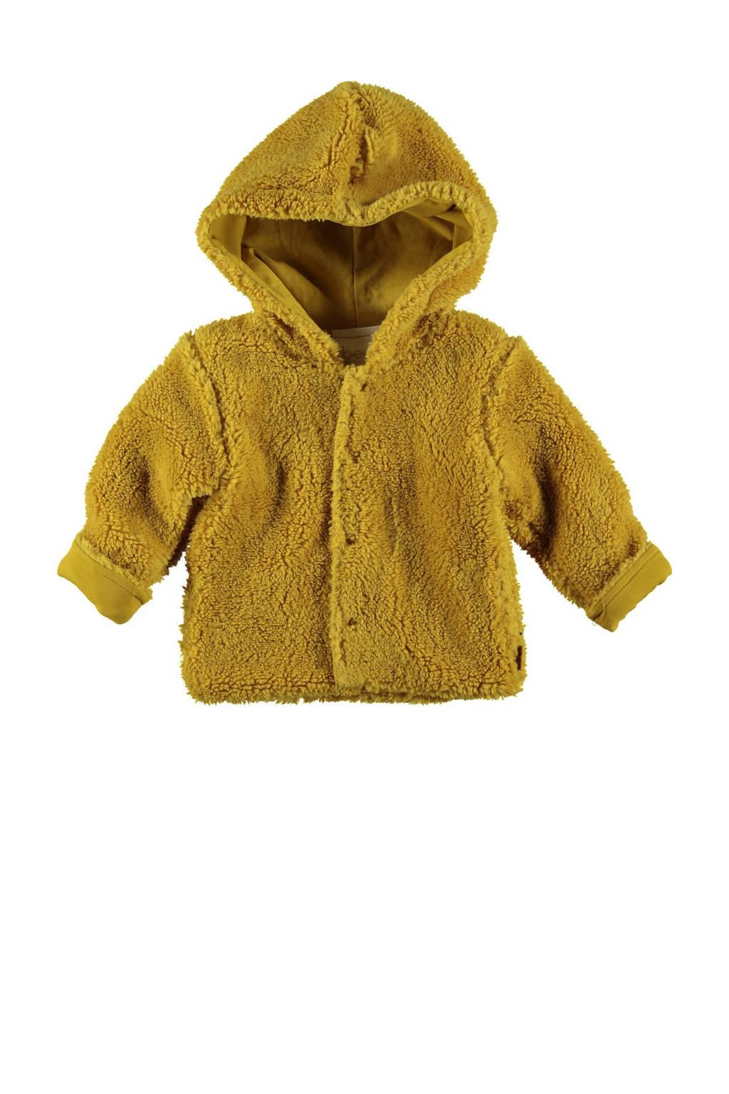 B.E.S.S baby imitatiebont teddy jas okergeel, Okergeel