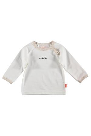 B.E.S.S baby longsleeve met tekst wit