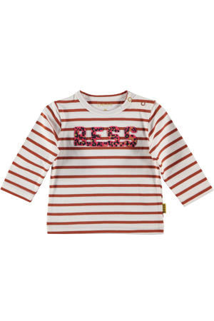 B.E.S.S baby gestreepte longsleeve rood/offwhite