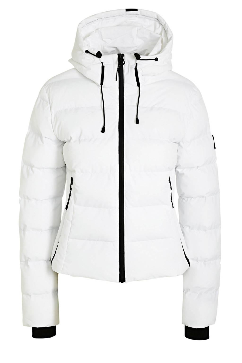 Superdry gewatteerde winterjas Puffer white, White
