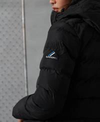 Superdry gewatteerde winterjas Puffer zwart, Zwart