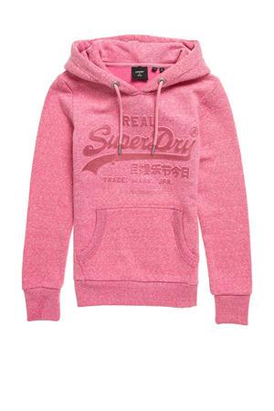 hoodie G1-Overhead Hood met tekst pink snowy