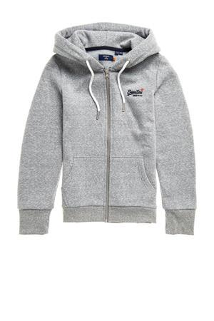 vest G2-Zip Hood met logo grey snowy