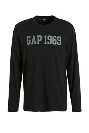 T-shirt met tekst zwart/grijs
