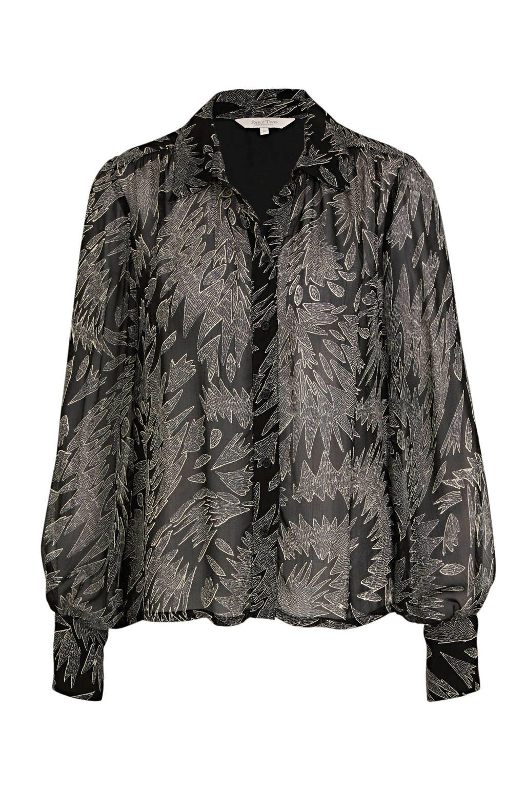 Part Two blouse EsmaPW SH met all over print zwart, Zwart