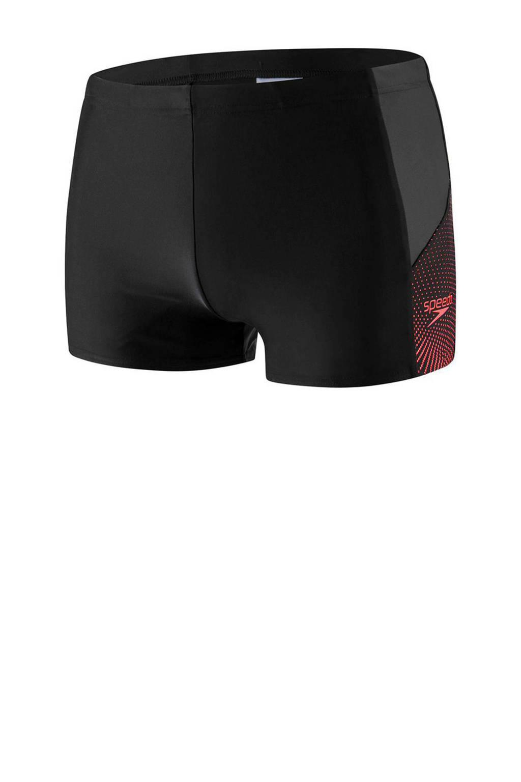 Speedo Endurance 10 zwemboxer Dive zwart/grijs, Zwart/grijs