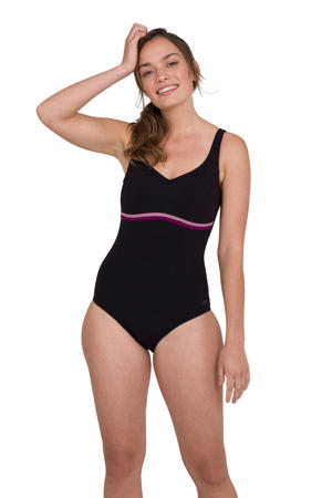 corrigerend sportbadpak ContourLuxe zwart/roze