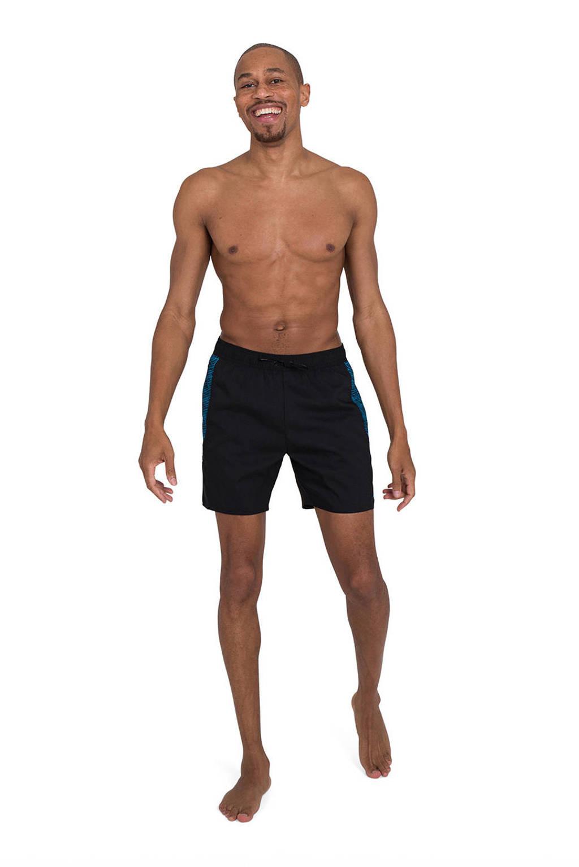 Speedo zwemshort zwart/blauw, Zwart/blauw