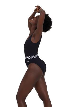 sportbadpak Belted zwart/wit