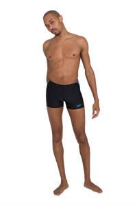 Speedo zwemboxer Tech Panel zwart/blauw, Zwart/blauw