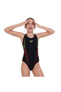 Speedo Endurance10 sportbadpak Plastisol zwart, Zwart/geel/rood