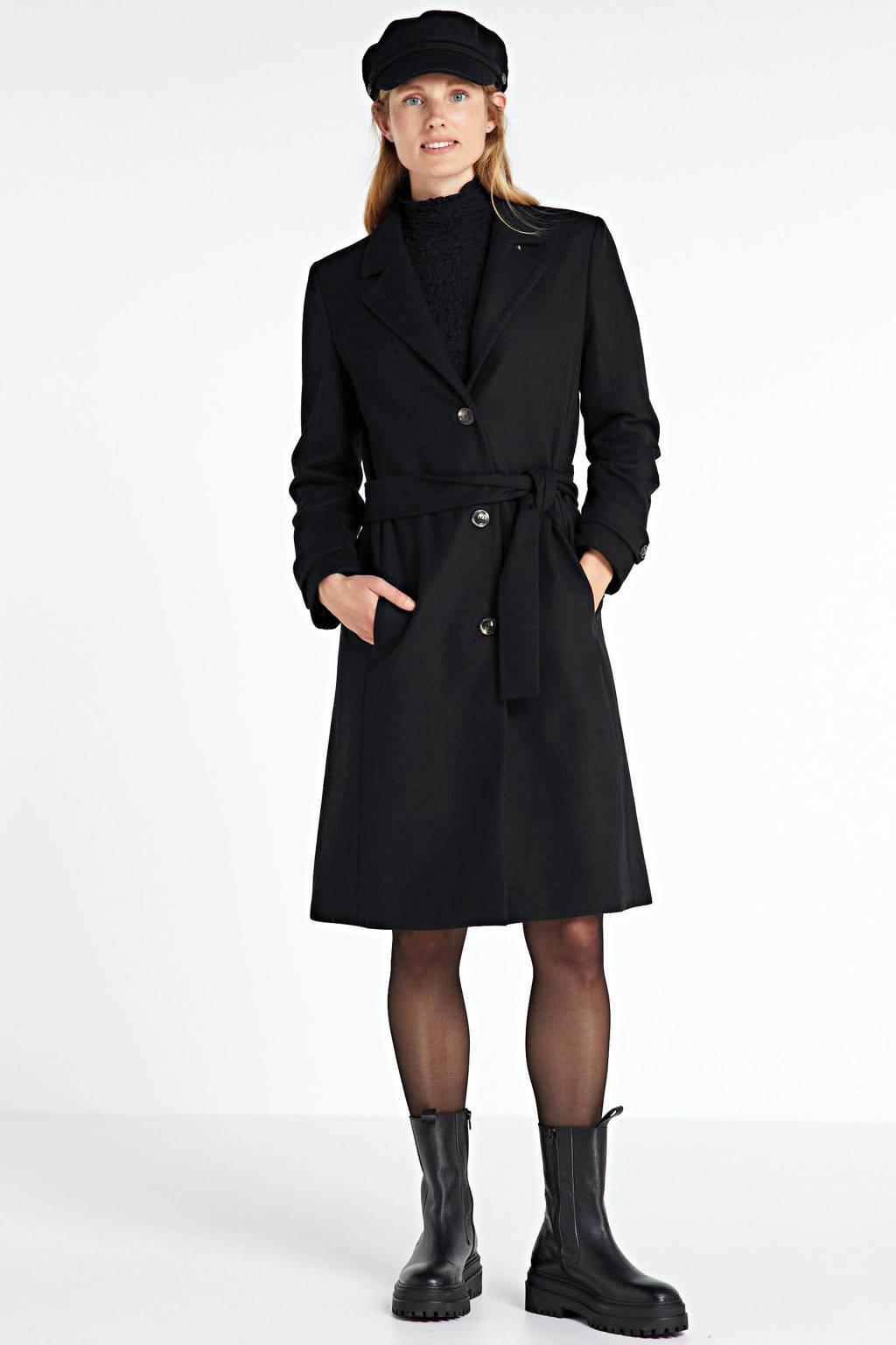 Inwear coat Levanna met wol zwart, Zwart