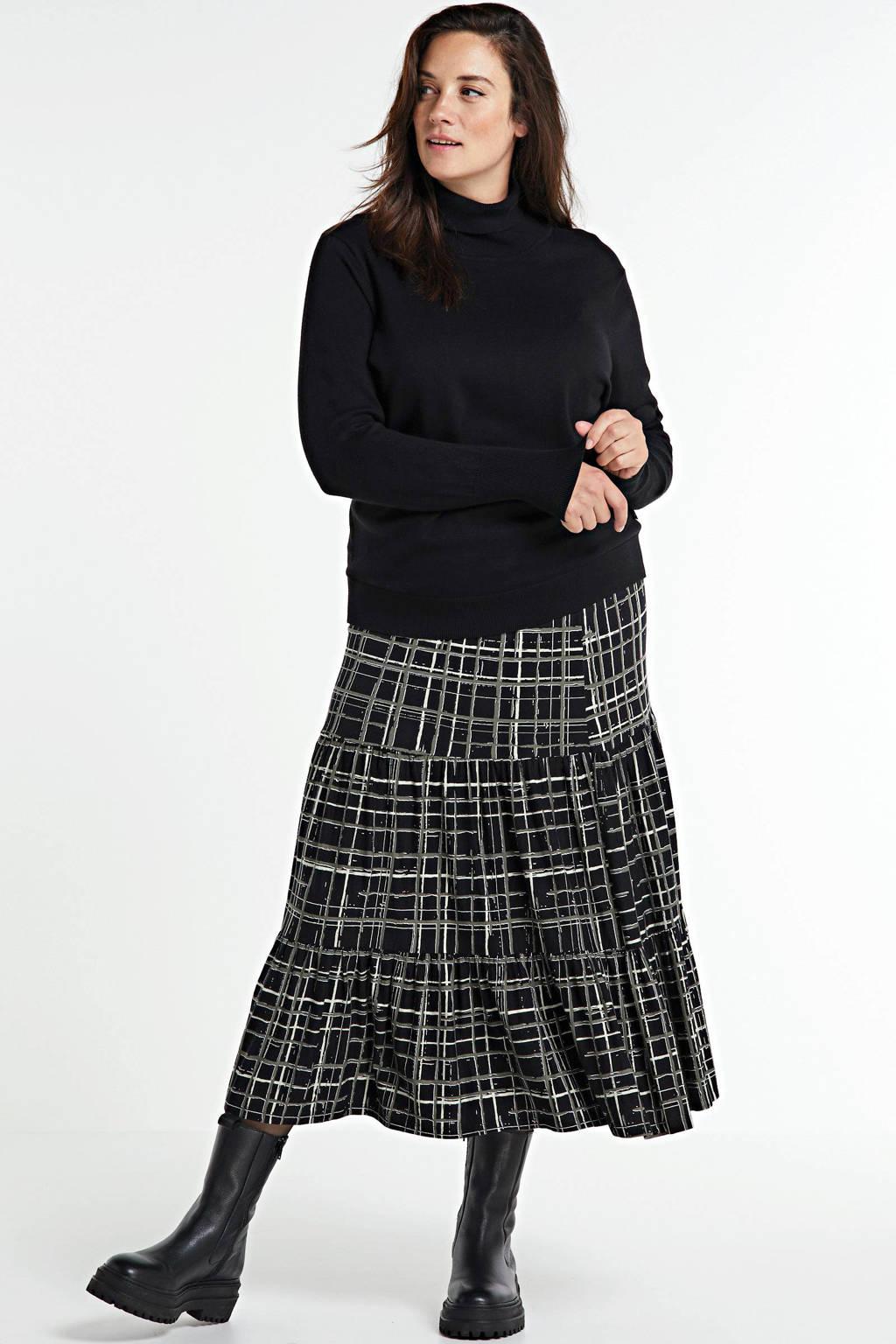CHOISE geruite rok zwart/wit/grijs, Zwart/wit/grijs