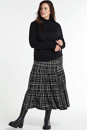 geruite rok zwart/wit/grijs