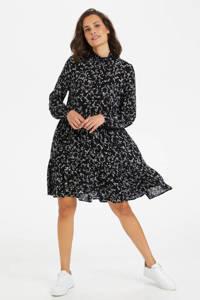 Kaffe blousejurk KAsama Amber Dress met all over print zwart, Zwart