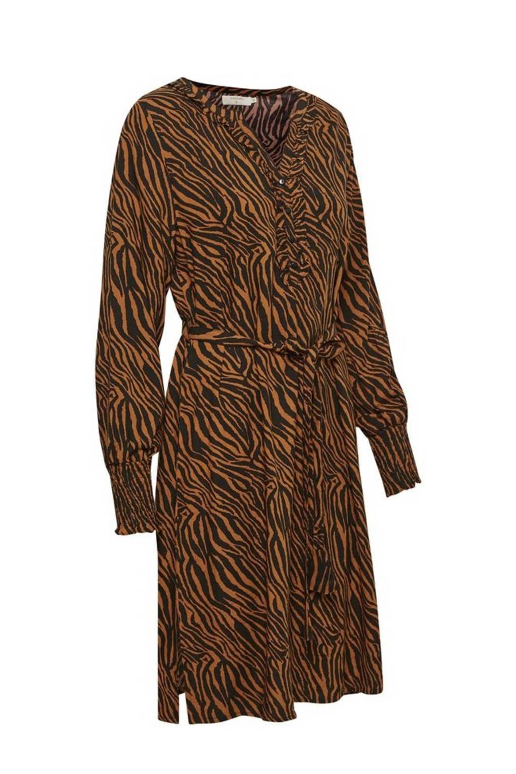 Cream blousejurk GivinaCR Dress met zebraprint geel, Geel