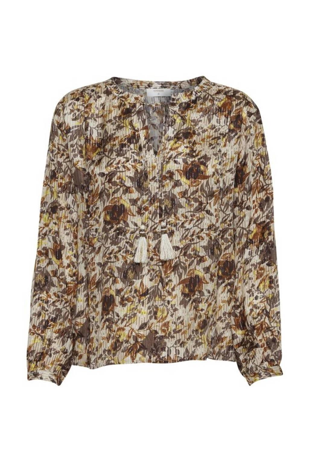 Cream blouse AugustaCR Blouse met all over print multi, Multi