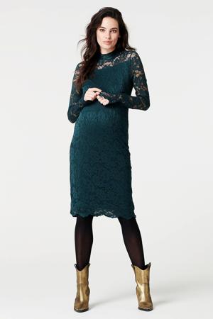 zwangerschapsjurk Lace met kant donkergroen