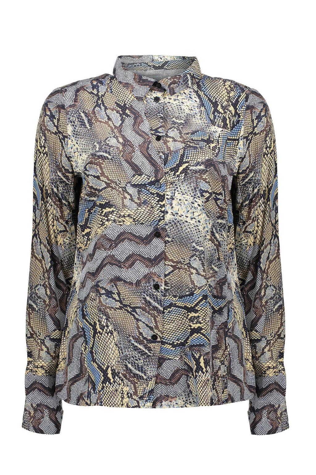 Geisha blouse met slangenprint multi, Multi