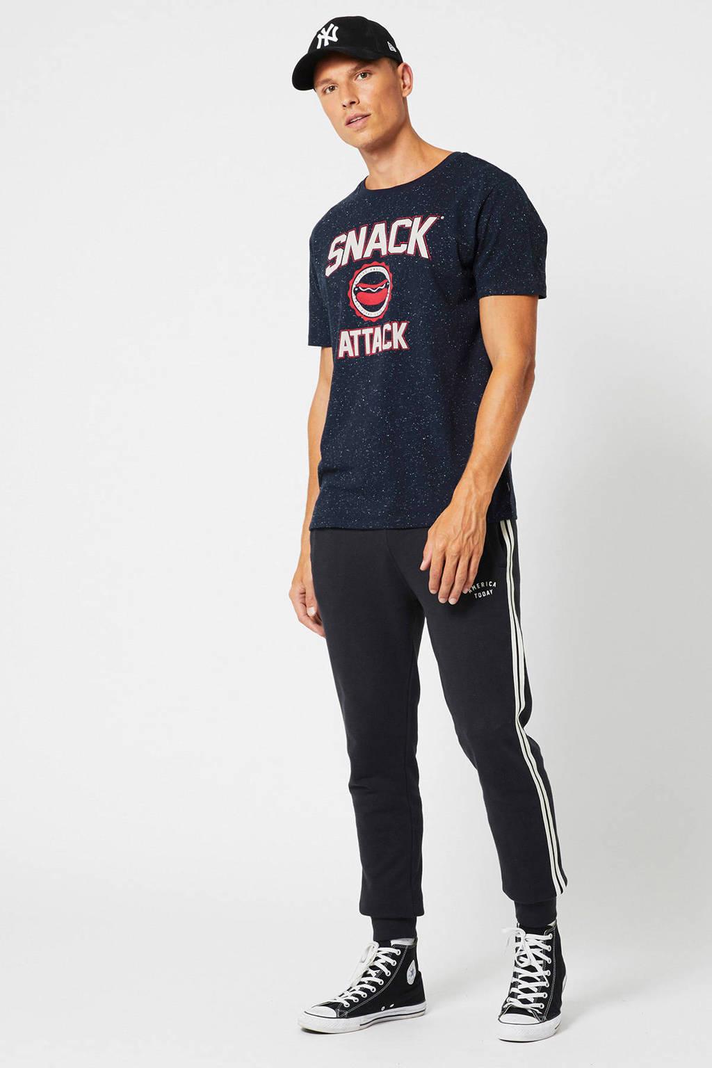 America Today regular fit joggingbroek washed black