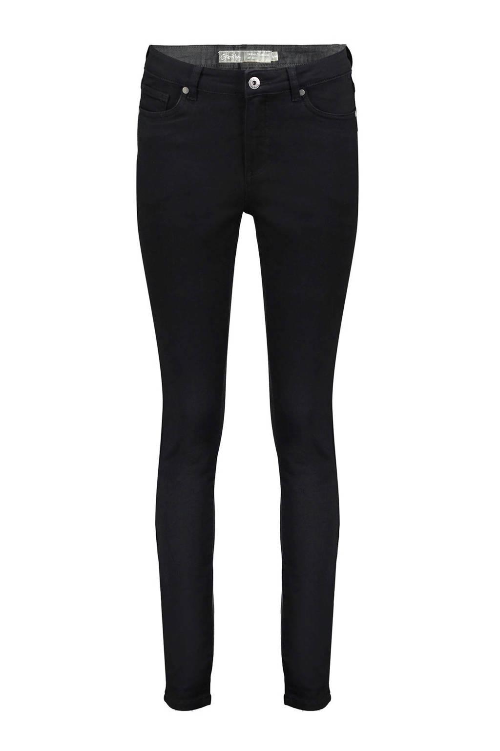 Geisha high waist skinny broek zwart, Zwart