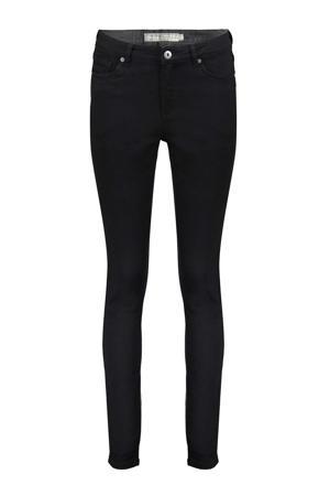 high waist skinny broek zwart
