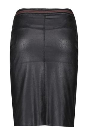 coated rok met glitters zwart/zilver/bruin