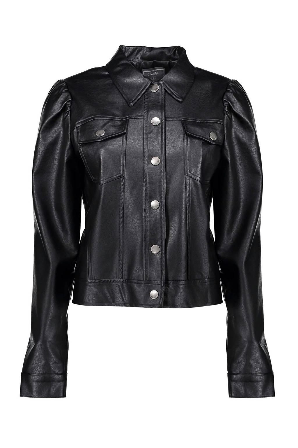 Geisha coated jasje zwart, Zwart