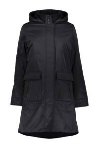 Geisha gewatteerde jas zwart, Zwart
