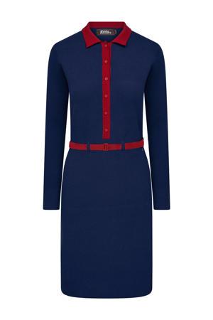 fine knit jurk blauw