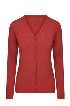 fine knit vest rood