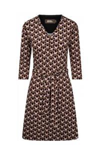4funkyflavours gebreide jurk met all over print bruin, Ginger Bread