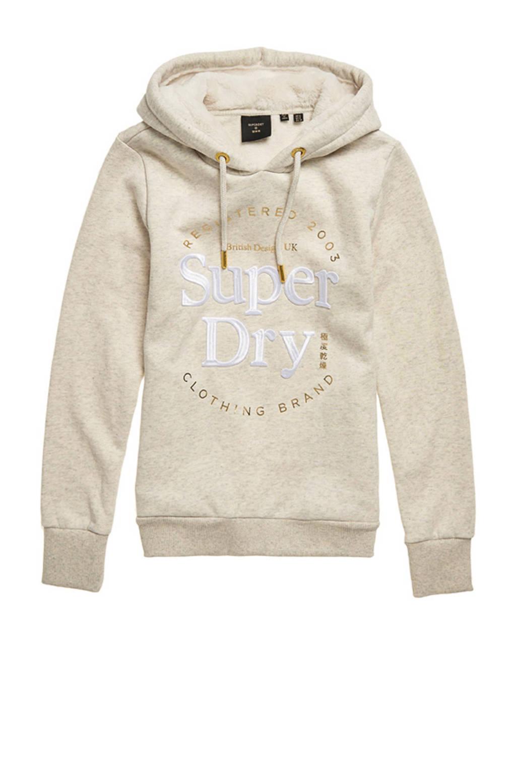 Superdry hoodie met logo beige, Beige