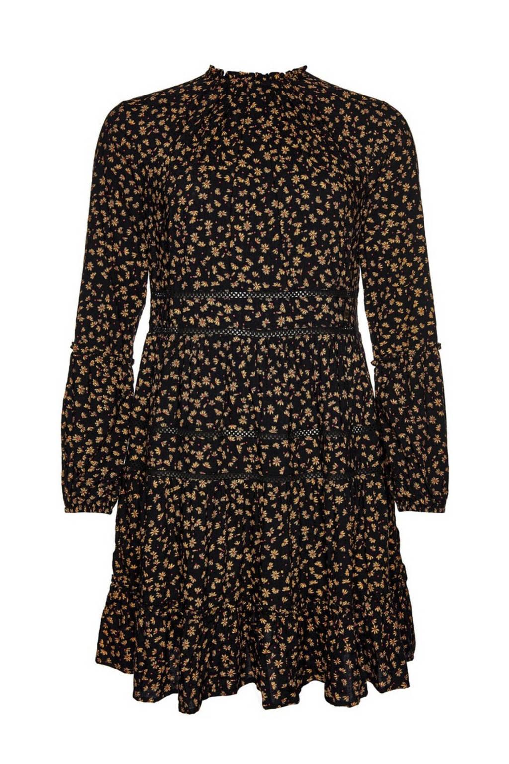 Superdry jurk met all over print zwart/geel, Zwart/geel