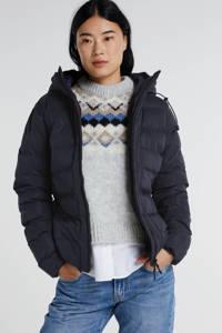 Superdry gewatteerde jas donkerblauw, Donkerblauw