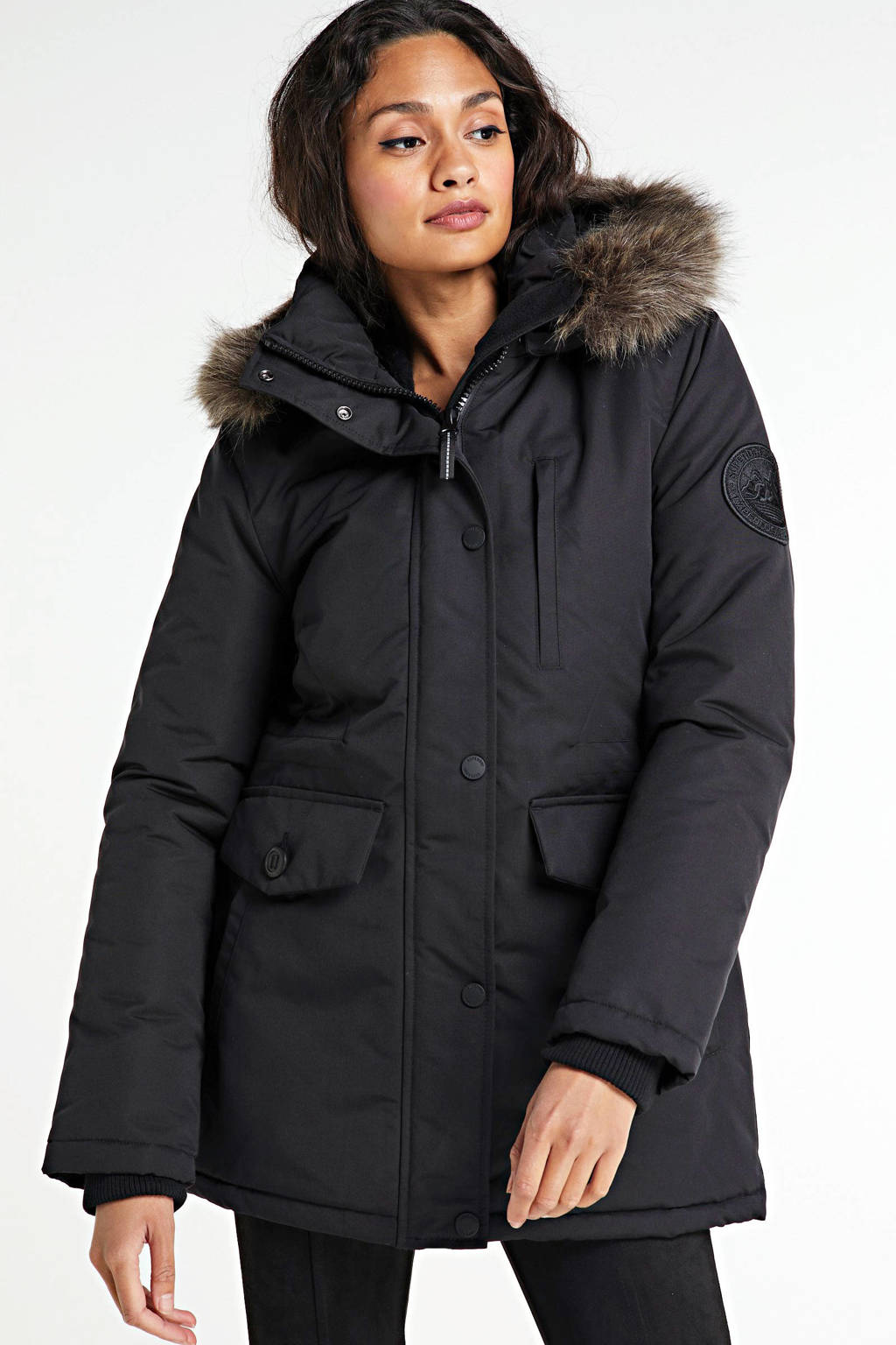 Superdry parka zwart, Black
