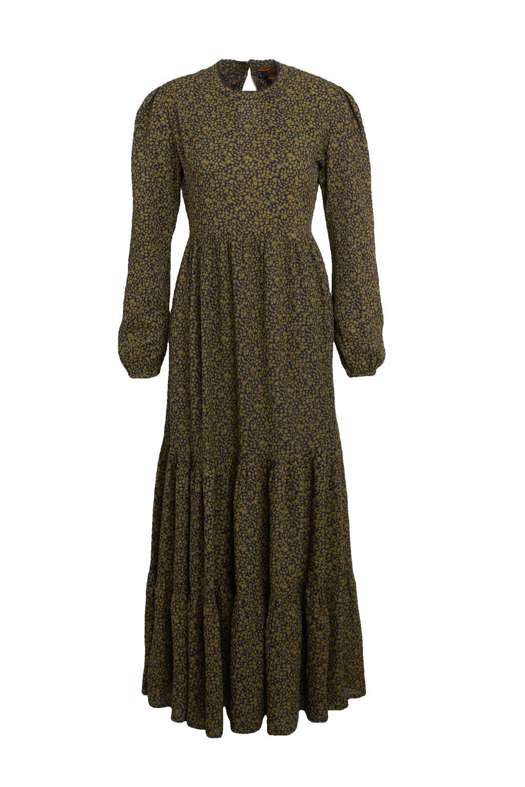 Superdry maxi jurk Skylar met dierenprint en kant leopard, Leopard