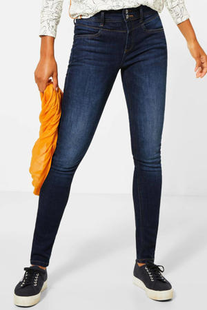 regular waist skinny jeans York dark denim