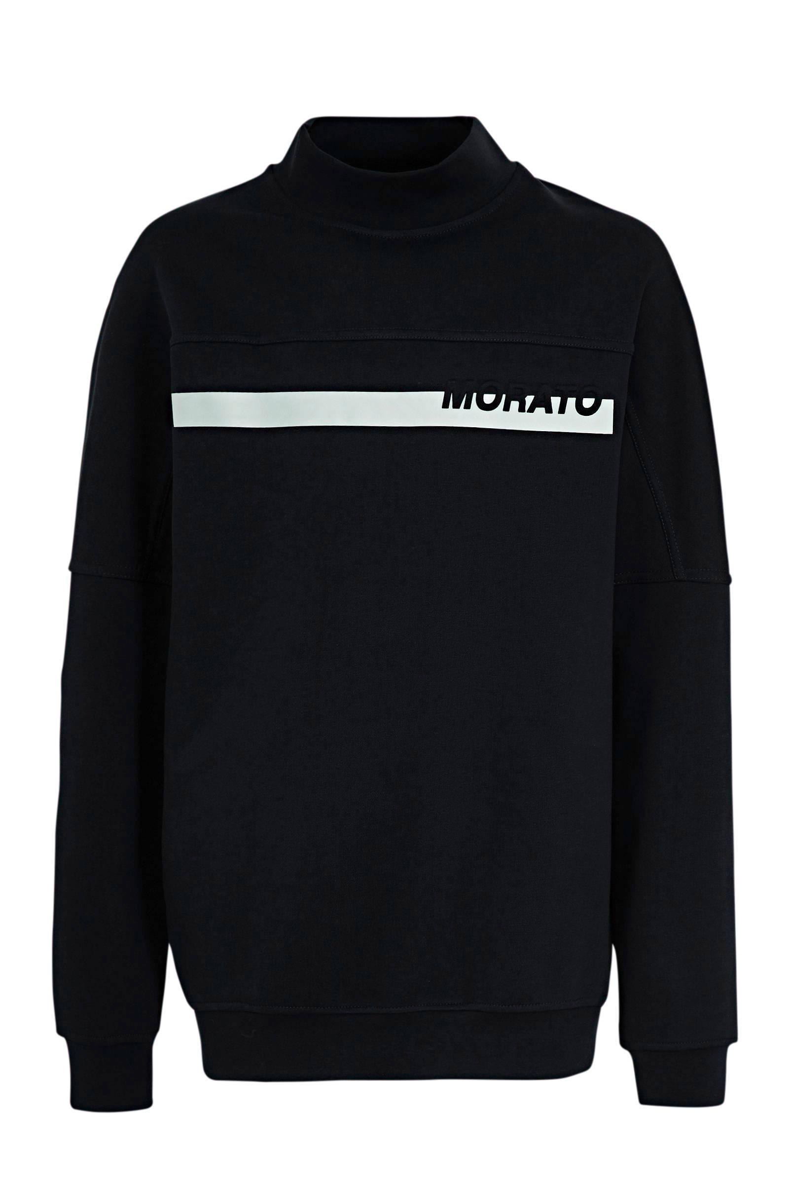 Antony Morato sweater met printopdruk donkerblauw | wehkamp