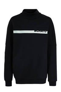 Antony Morato sweater met printopdruk donkerblauw, Donkerblauw