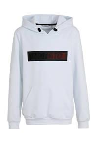 Antony Morato hoodie met logo wit/zwart, Wit/zwart