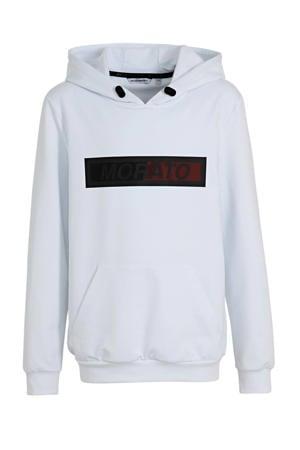 hoodie met logo wit/zwart