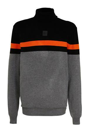 coltrui zwart/grijs melange/oranje