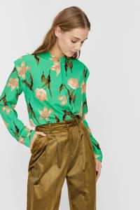 VERO MODA gebloemde blouse Betty groen, Groen