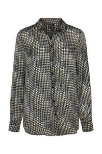 VERO MODA blouse met all over print zwart, Zwart