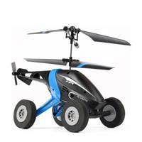 Silverlit Air Wheelz Helicopter blauw, Kunststof