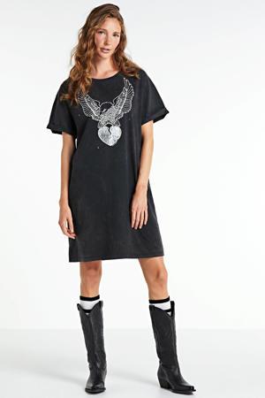 T-shirtjurk Silver Eagle van biologisch katoen donkergrijs