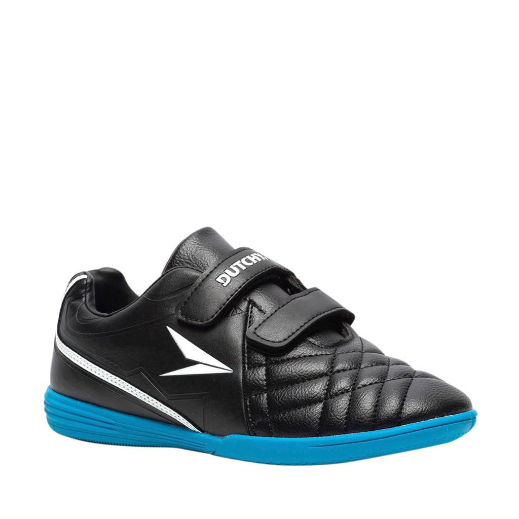 Scapino Dutchy   Jr. zaalvoetbalschoenen zwart/blauw, Zwart/blauw