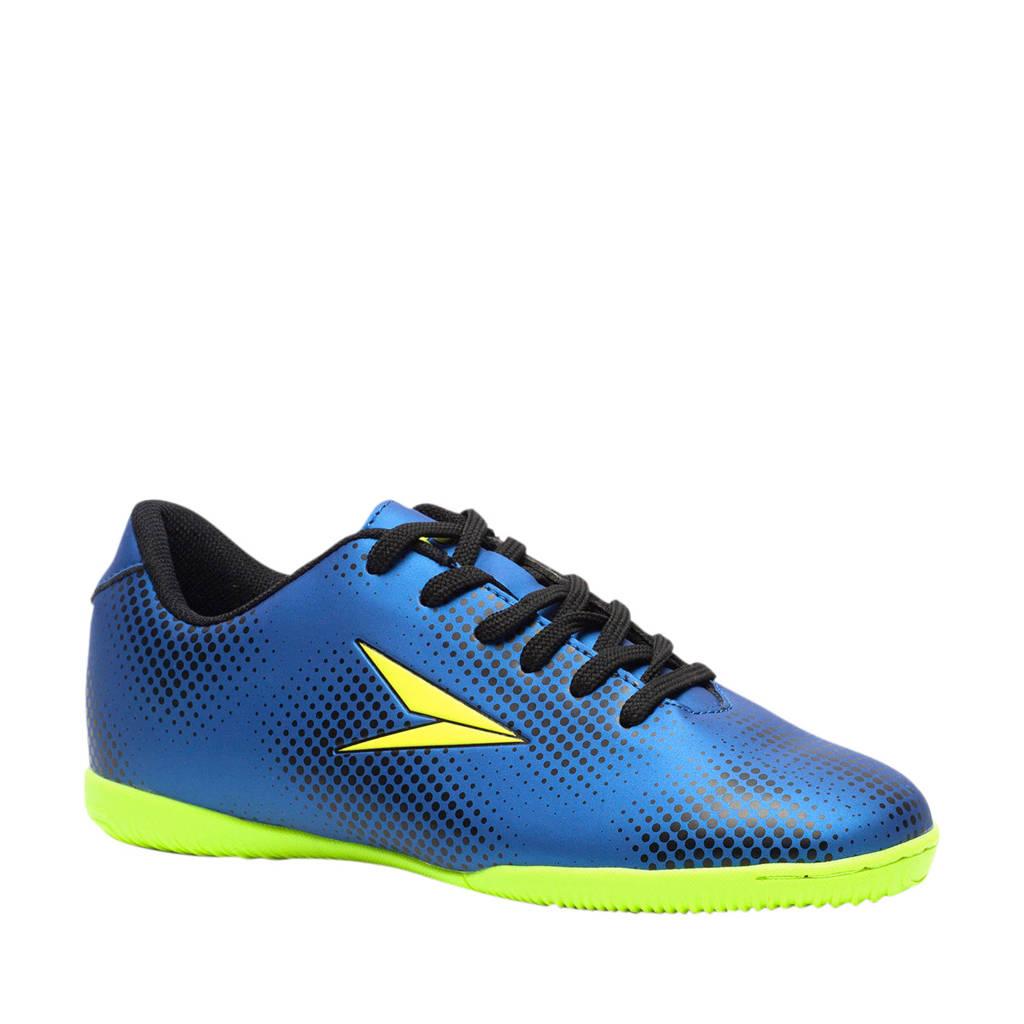 Scapino Dutchy Dott IN Jr. zaalvoetbalschoenen blauw/fluorgeel, Blauw